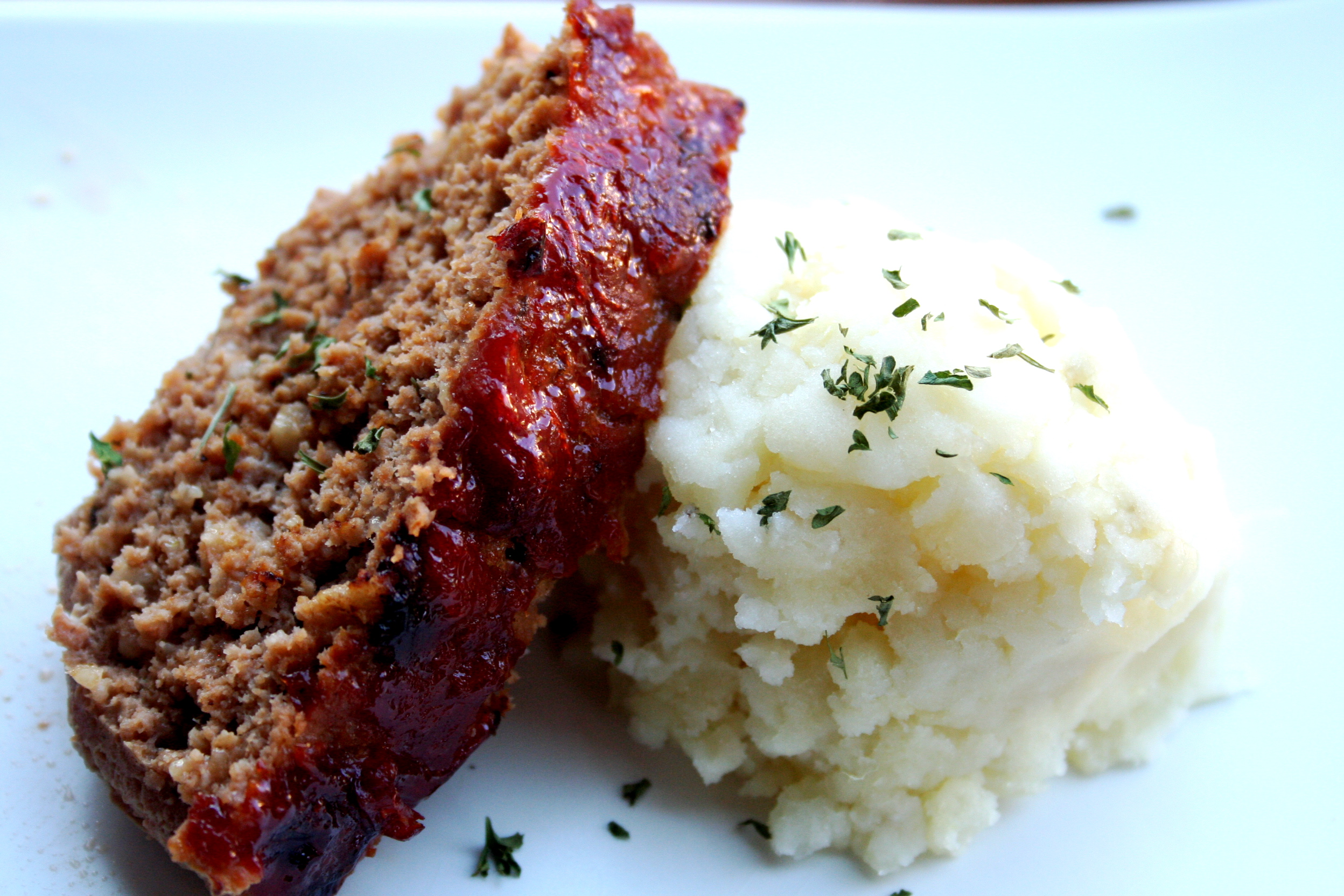 Turkey Meatloaf with Mashed Potatoes
