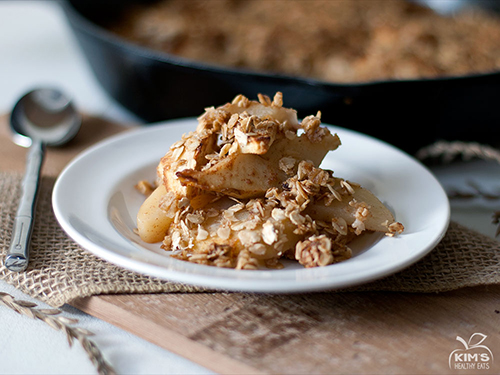 ... apple and pear crisp has all the deliciousness of a fruit pie….minus