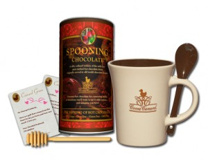 spooning chocolate gift set