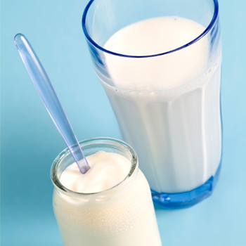 Yogurt and Glass of Milk